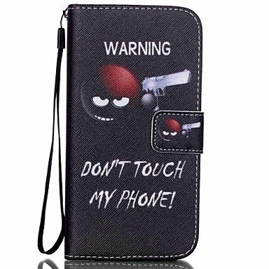 Capinha Para Samsung Galaxy Porta-Cartão Carteira Com Suporte Flip Estampada Capa Proteção Completa Palavra / Frase Rígida PU Leather para