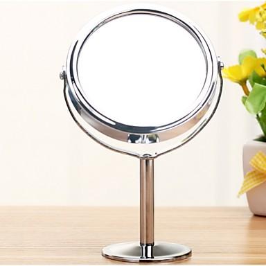 ezüst íróasztal kétoldalas kozmetikai smink tükrök 1: 2 nagyító funkcióval üveg kozmetikai tükör