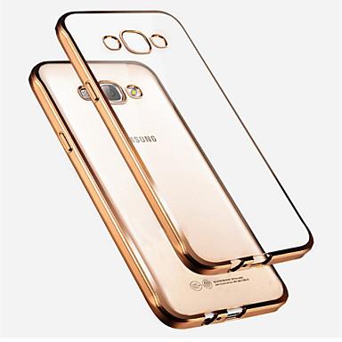 Capinha Para Samsung Galaxy Samsung Galaxy Capinhas Galvanizado Translúcido Capa traseira Côr Sólida TPU para A7 A5