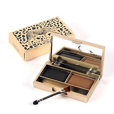 1pcs um gato genuíno leopardo inteligente cor da sobrancelha brilho estéreo impermeável fácil de cor maquiagem