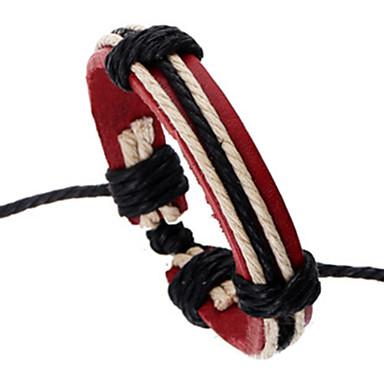 Heren Lederen armbanden Eenvoudige Stijl Verstelbaar Leder Legering Rood Sieraden Voor Feest Dagelijks Causaal 1 stuks