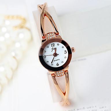 Mulheres Relógio de Moda Quartzo Relógio Casual Lega Banda Prata Dourada