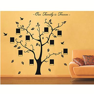 Botanik Duvar Etiketler Uçak Duvar Çıkartmaları Dekoratif Duvar Çıkartmaları, Vinil Ev dekorasyonu Duvar Çıkartması Duvar