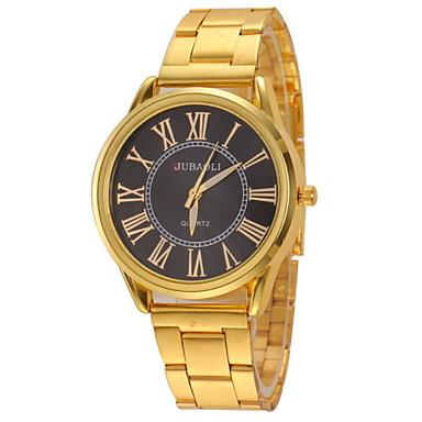 זול שעוני גברים-JUBAOLI בגדי ריקוד גברים שעון יד קווארץ מתכת אל חלד זהב שעונים יום יומיים אנלוגי קסם אריסטו - זהב לבן שחור שנה אחת חיי סוללה / SSUO LR626
