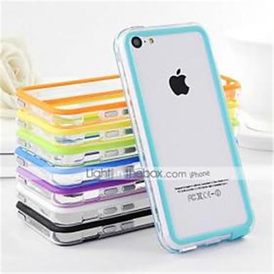 iphone 5c için df çift renkli orta şeffaf TPU yumuşak tampon