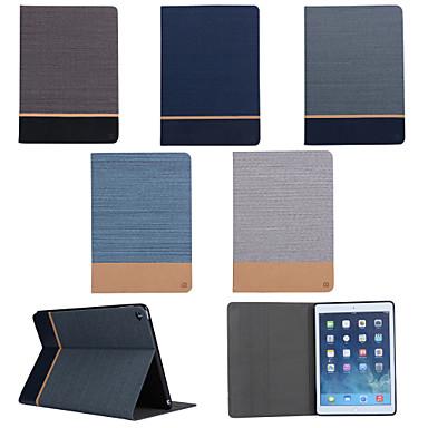 Кейс для Назначение iPad Air 2 со стендом Чехол Сплошной цвет текстильный для iPad Air 2
