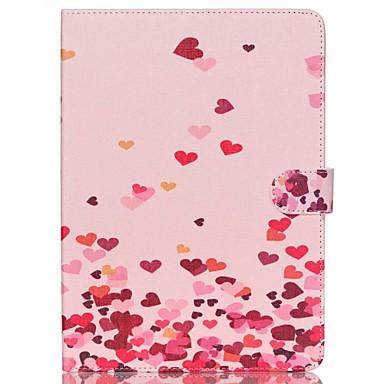 corações cor de rosa de couro folio caso tampa do suporte com suporte para o ar ipad 2
