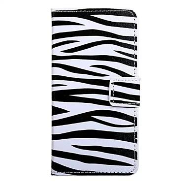 Para Samsung Galaxy Capinhas Carteira / Porta-Cartão / Com Suporte / Flip Capinha Corpo Inteiro Capinha Linhas / Ondas Couro PU Samsung S7