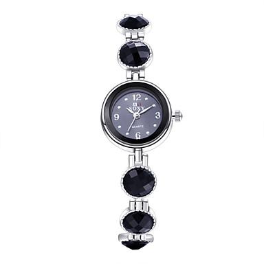 아가씨들 드레스 시계 패션 시계 팔찌 시계 / 석영 합금 밴드 빈티지 캐쥬얼 우아한 블랙