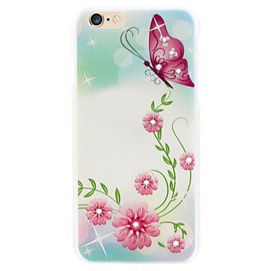 vlinder fladderende diamanten bloem telefoon shell geschilderde reliëfs van toepassing iphone6 / 6s