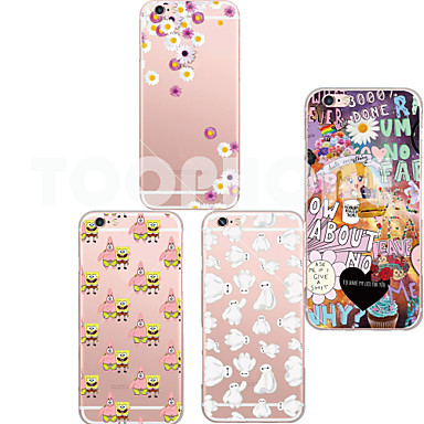 Capinha Para iPhone 6 Plus Capa Traseira Macia TPU para iPhone 6s Plus iPhone 6 Plus
