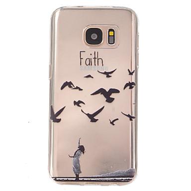 Capinha Para Samsung Galaxy Samsung Galaxy S7 Edge Ultra-Fina Com Relevo Capa traseira Animal TPU para S7 plus S7 edge plus S7 edge S7
