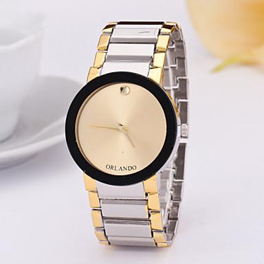 Mulheres Relógio de Moda Quartzo Lega Banda Prata Dourada Branco Preto Dourado