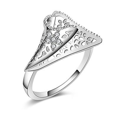 Ringen Feest / Dagelijks / Causaal Sieraden Verzilverd Dames Bandringen 1 stuks,8 Zilver