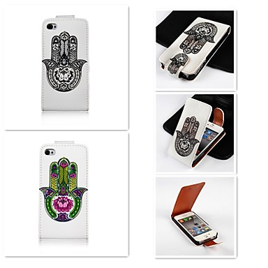 hoesje Voor iPhone 5 Apple iPhone 5 hoesje Flip Patroon Volledig hoesje Cartoon Hard PU-nahka voor iPhone SE / 5s iPhone 5