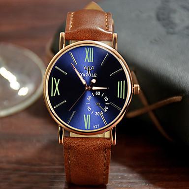 זול שעוני גברים-בגדי ריקוד גברים שעון יד קווארץ עור שחור / חום 30 m שעונים יום יומיים אנלוגי קסם קלסי - שחור שחור /  כחול ירוק כהה שנה אחת חיי סוללה / מתכת אל חלד