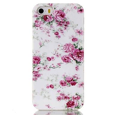 hoesje Voor iPhone 5 hoesje Patroon Achterkantje Bloem Zacht TPU voor iPhone SE/5s iPhone 5