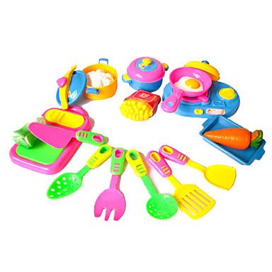 Brinquedos de Faz de Conta Conjuntos Toy Cozinha Pratos Toy & Tea Sets Brinquedos Vegetais Simulação Para Meninas 17 Peças