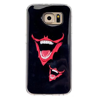 Para Samsung Galaxy Capinhas Estampada Capinha Capa Traseira Capinha Desenho TPU Samsung S7 / S6 edge / S6