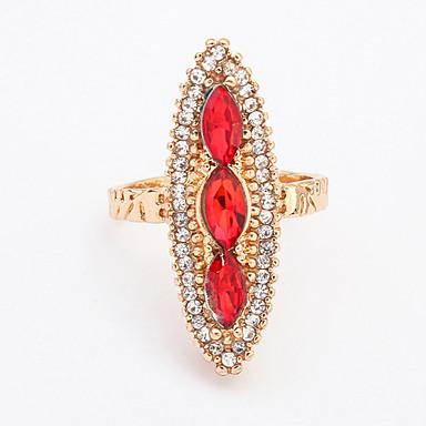 Dames Statementringen Modieus Europees Kostuum juwelen Acryl Strass Legering Geometrische vorm Sieraden Voor Feest Dagelijks Causaal