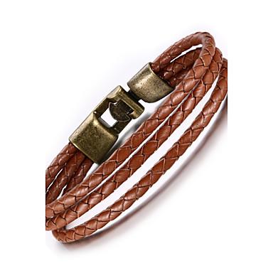 Heren Armbanden met ketting en sluiting Leder Koper Sieraden Feest Dagelijks Causaal Sport Kostuum juwelen Bruin