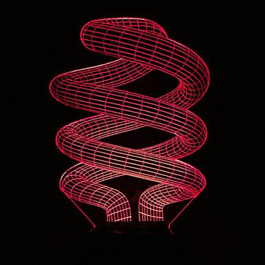 1 Pça. Luz noturna 3D USB Bateria Decorativa DC 12V