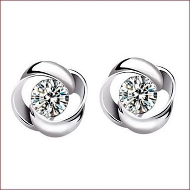 Dames Oorknopjes Sterling zilver Kristal Sieraden Voor Bruiloft Feest Dagelijks Causaal Sport