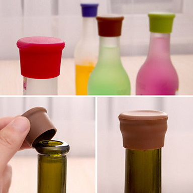 Candy Color Silicone Bottle Stopper Fresh Beer Food Grade Cork Cruet Random Color