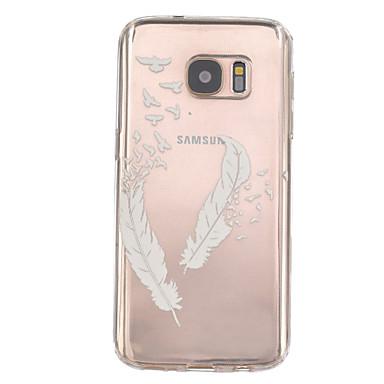 hoesje Voor Samsung Galaxy Samsung Galaxy S7 Edge Reliëfopdruk Achterkant Veren TPU voor S7 edge S7