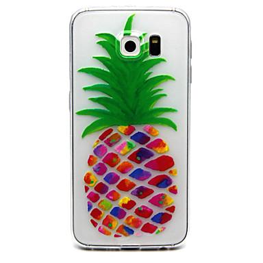 Capinha Para Samsung Galaxy Samsung Galaxy S7 Edge Transparente Com Relevo Capa traseira Fruta TPU para S7 edge S7 S6