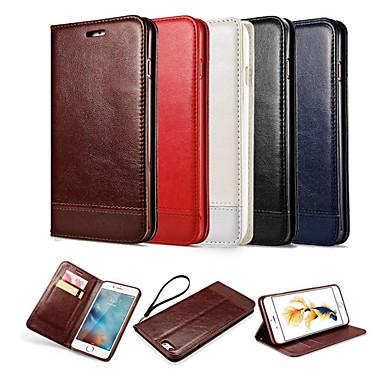 luxe lederen portemonnee kaartsleuf flip case met standaard voor de iPhone 6 plus / 6s plus (verschillende kleuren)