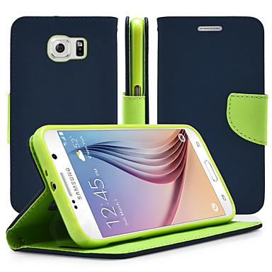 Недорогие Чехлы и кейсы для Galaxy Note 4-Кейс для Назначение SSamsung Galaxy Note 5 / Note 4 / Note 3 со стендом / Флип Чехол Однотонный Кожа PU