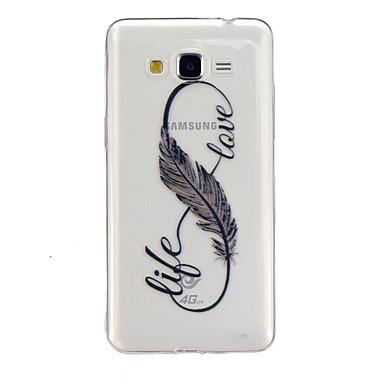 Para Samsung Galaxy Capinhas Transparente / Estampada Capinha Capa Traseira Capinha Pena TPU Samsung Grand Prime / Core Prime
