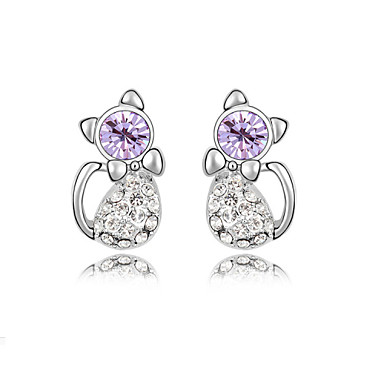 Oorknopjes Kristal Paars Roos Blauw Sieraden Voor Bruiloft Feest Dagelijks Causaal 1 Set