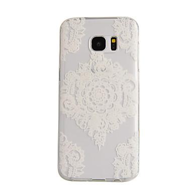 Voor Samsung Galaxy S7 Edge Transparant hoesje Achterkantje hoesje Mandala TPU Samsung S7 edge / S7 / S6 edge / S6