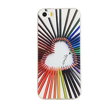 Voor iPhone 5 hoesje Patroon hoesje Achterkantje hoesje Hart Zacht TPU iPhone SE/5s/5