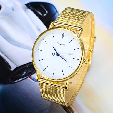 Masculino Relógio de Pulso Relógio Casual Quartzo Lega Banda Prata Dourada