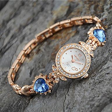 Mulheres Relógio de Moda Bracele Relógio Quartzo Lega Banda Heart Shape Elegant Dourada