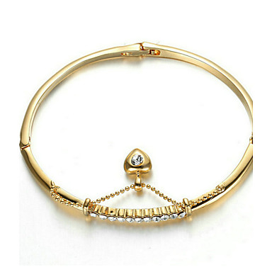 Dames Armbanden met ketting en sluiting Zirkonia Modieus Bohemia Style Verguld Hartvorm Sieraden Voor Feest