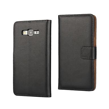 Para Samsung Galaxy Capinhas Porta-Cartão / Carteira / Com Suporte / Flip Capinha Corpo Inteiro Capinha Cor Única Couro PU SamsungGrand