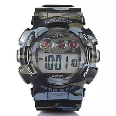 Homens Relógio Esportivo Digital LCD Calendário Cronógrafo alarme Plastic Banda Preta