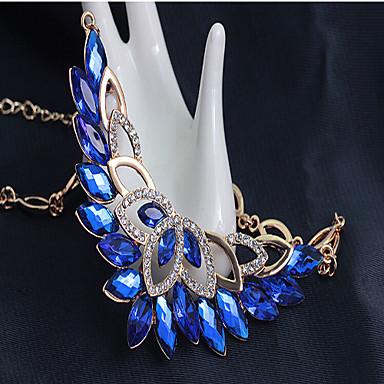 Sieraden Set Kristal Feest Schakels/ketting Europees Edelsteen & Kristal Kubieke Zirkonia Verguld Armband Ketting Oorbellen Ring