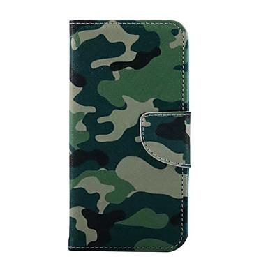 Voor Samsung Galaxy hoesje Kaarthouder / met standaard / Flip / Patroon / Magnetisch hoesje Volledige behuizing hoesje Camouflage Kleur