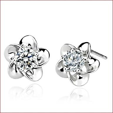 Oorknopjes Parel Sterling zilver Imitatieparel Wit Sieraden Voor Bruiloft Feest Dagelijks Causaal Sport 1 stuks