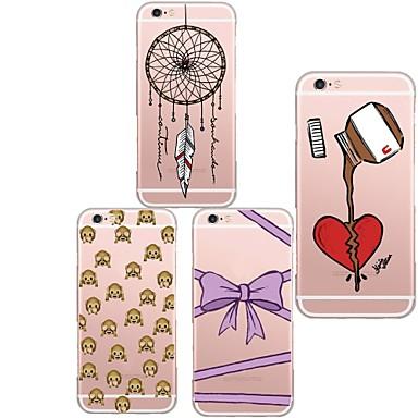 hoesje Voor iPhone 5 hoesje Ultradun Transparant Patroon Achterkantje Cartoon Zacht TPU voor iPhone SE/5s iPhone 5