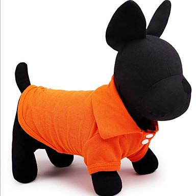 Köpek Tişört Köpek Giyimi Solid Sarı Kırmzı Yeşil Mavi Pembe Pamuk Kostüm Evcil hayvanlar için Erkek Kadın's Günlük/Sade
