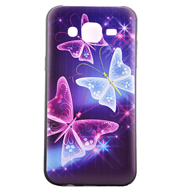 Voor Samsung Galaxy hoesje Patroon hoesje Achterkantje hoesje Vlinder TPU Samsung J5 / J1 / Grand Prime / Core Prime