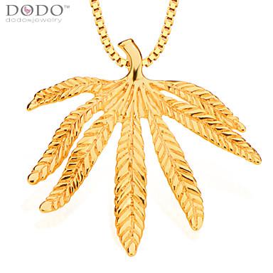 moda deixa os homens pingente de jóias de ouro 18k colares cadeia& pingentes jóias vintage mulheres presentes p30117