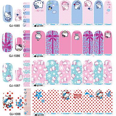 1 pcs Full Cover Nail Tips Half Nail Tips Nail Jewelry nail art Manicure Pedicure Lovely Abstract / Cartoon / Fashion Daily