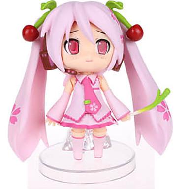 애니메이션 액션 피규어 에서 영감을 받다 보컬로이드 Sakura Miku PVC 9 CM 모델 완구 인형 장난감